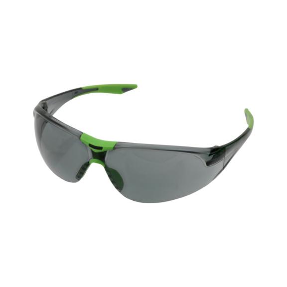 Bügelschutzbrille Racer - Racer Bügelschutzbrille grau getönt, UV-Schutz 400, gerade, sportliche Bügelform