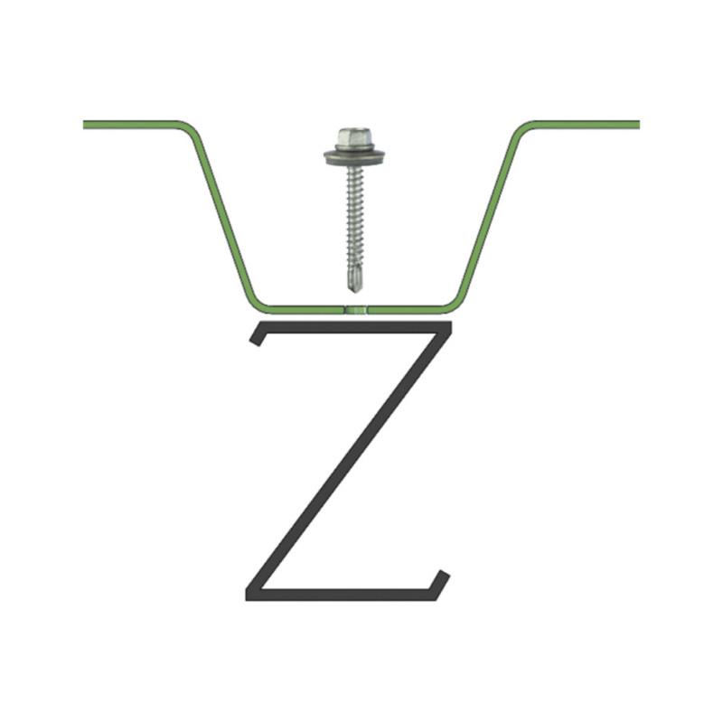 sebSta hexagon-head drilling screw, bimetal, A2/steel, RUSPERT® - 6
