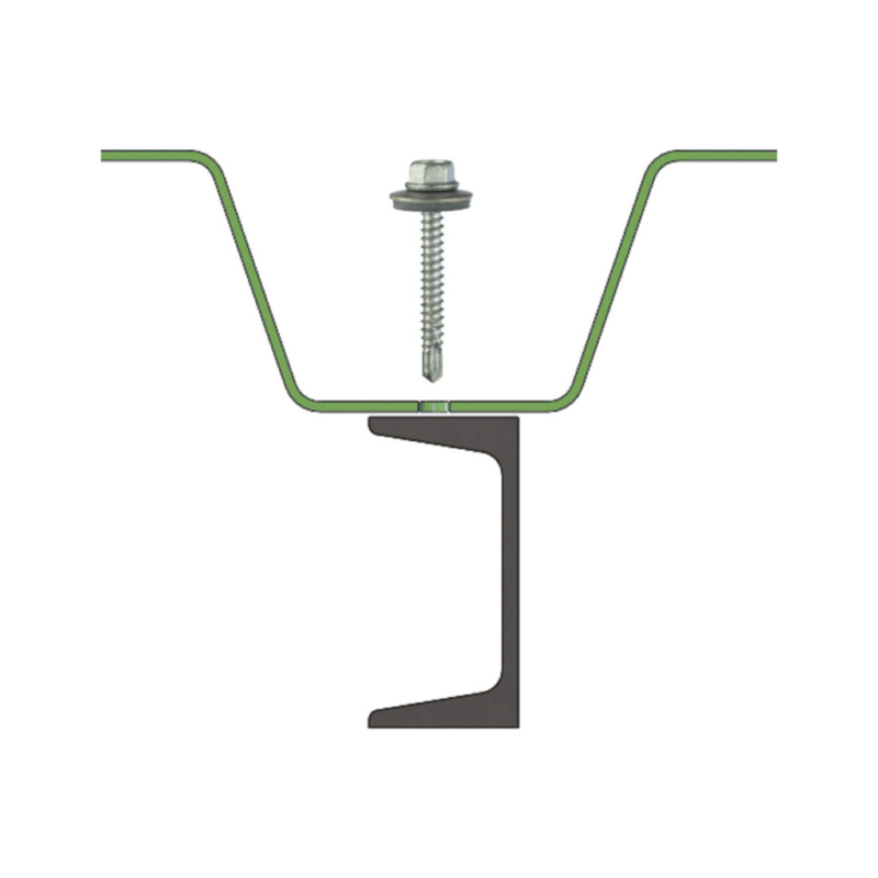 sebSta hexagon-head drilling screw, bimetal, A2/steel, RUSPERT® - 7