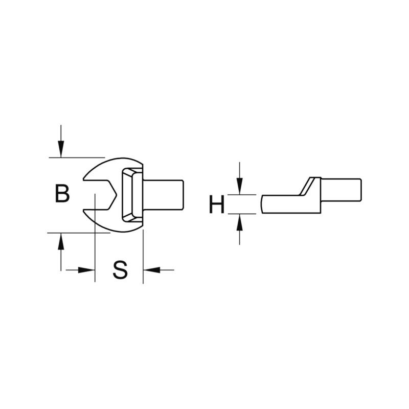 RECA Einsteck-Maulschlüssel für Drehmomentschlüssel (Werkzeugaufnahme 9 x 12 mm) - 2
