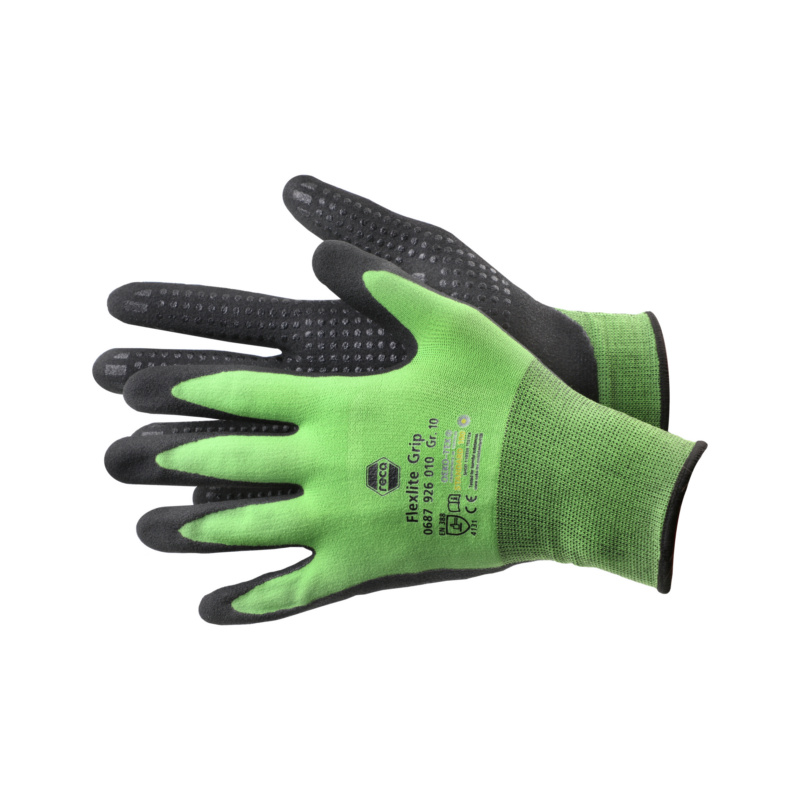 RECA Flexlite Grip work gloves - 1