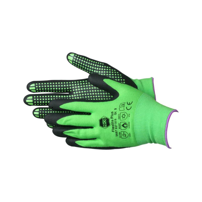 RECA Flexlite Plus Schutzhandschuhe - Flexlite Plus Schutzhandschuhe EN 388 / EN 407 / EN 511 Nylon-Gewebe, Nitril-Schaum-Beschichtung, mit Noppen Gr. 10