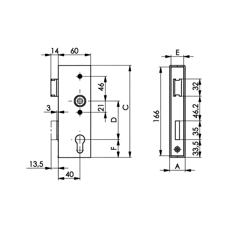 6 Stück Möbelschloß Dornmaß 20 mm Sonderposten