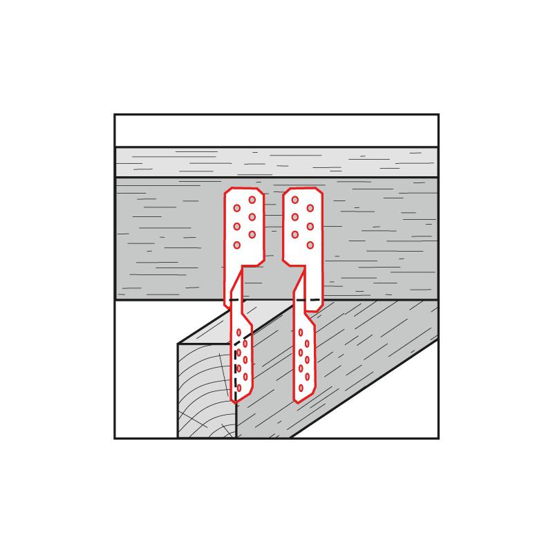 Sparrenpfettenanker vz 170 x 2 mm Links