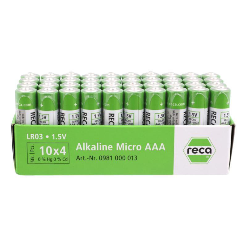 40er Pack Alkaline Batterien