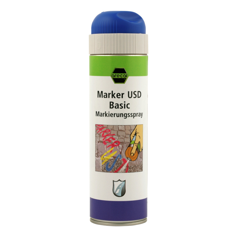 arecal Marker USD Basic, Markierungsspray - arecal MARKER USD Markierungsspray BASIC, blau 500 ml
