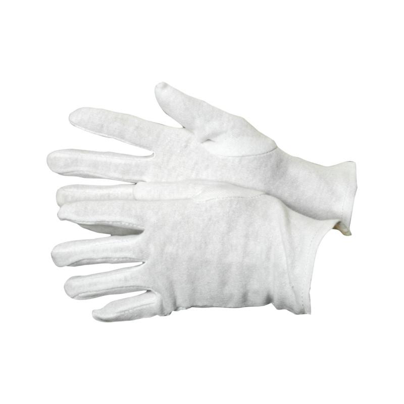 Trikothandschuhe - Trikothandschuhe Kat.I 100% Baumwolle, reinweiß, mit Schichtel, und eingesetztem Daumen Gr. 10