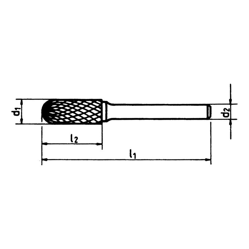 Cemented carbide milling bits, cylindrical shape with round end - 4