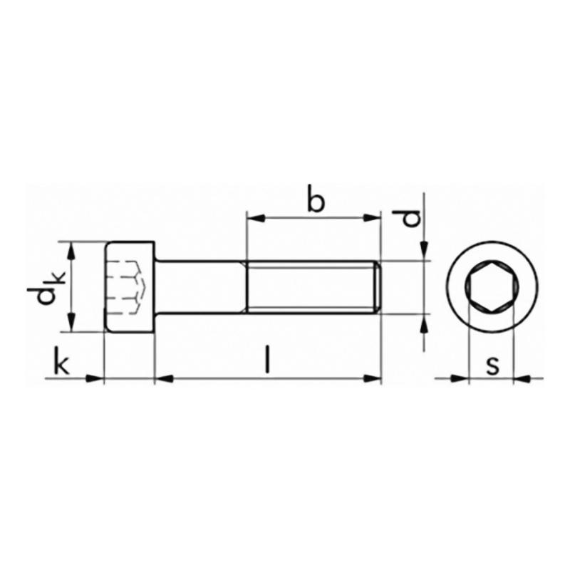 Cheese-head screw DIN 912 8.8 galv - 2
