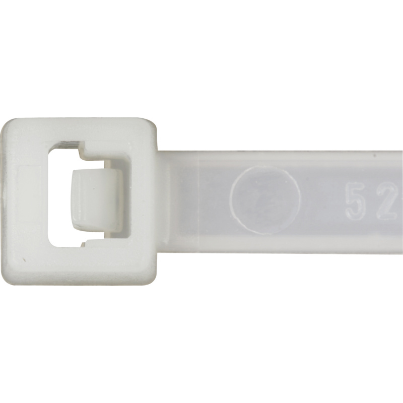 Cable ties with plastic latch, natural - 1