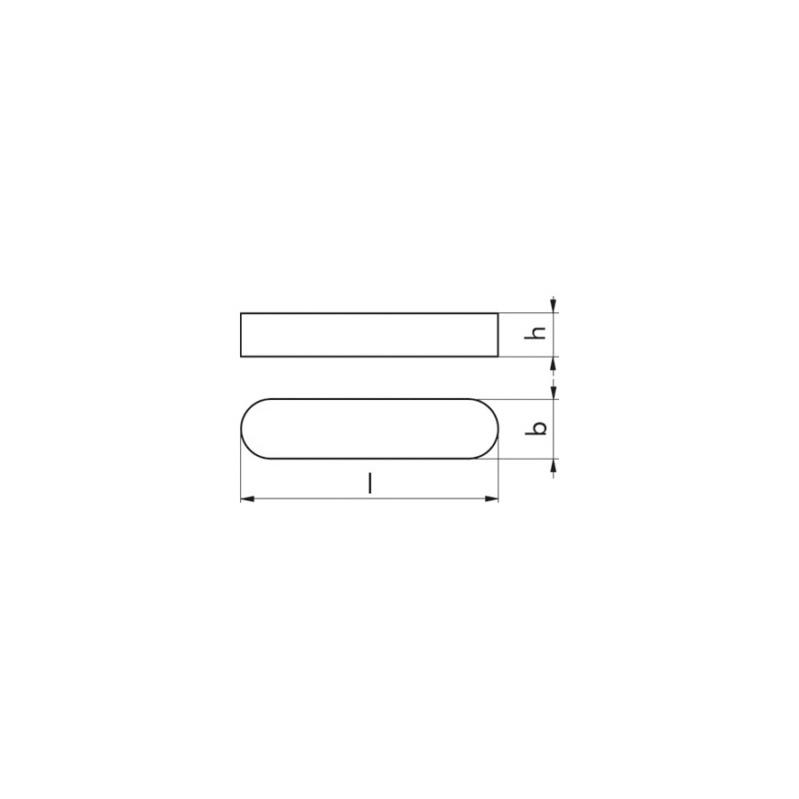 Passfedern DIN 6885 C45K blank - 2