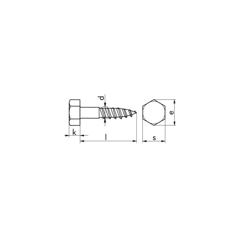 Hexagon head wood screw DIN 571 - 2