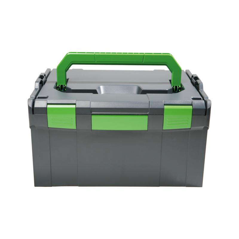 RECA Boxx 238 Kunststoffsystemkoffer - RECA Boxx 238 Kunststoffsystemkoffer grafitgrau/grün, Leergewicht ca. 2,8 kg 442 x 357 x 253 mm