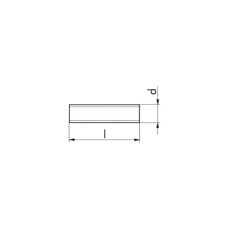 Threaded fittings DIN 976-1 4.8 galvanised - 2