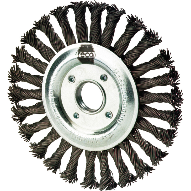 Cylinder wire brush, steel wire, for angle grinder