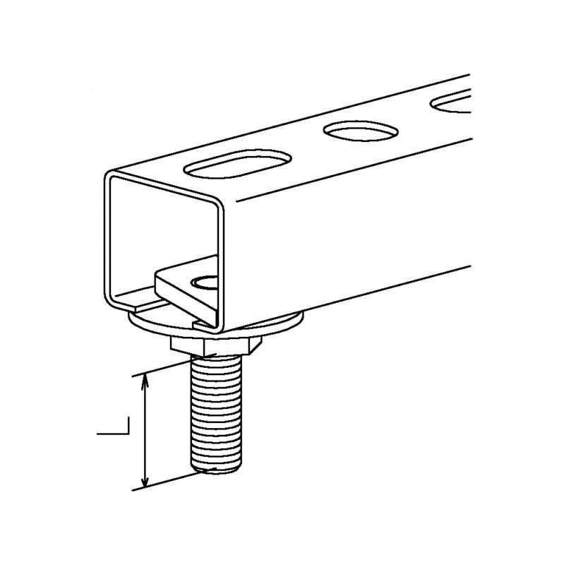 recamo hammer head bolts, galvanised - 2
