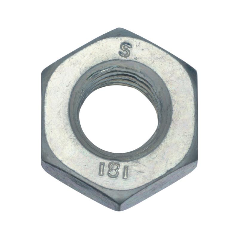 Hexagonal nut DIN 934, strength class 8 galv - 1
