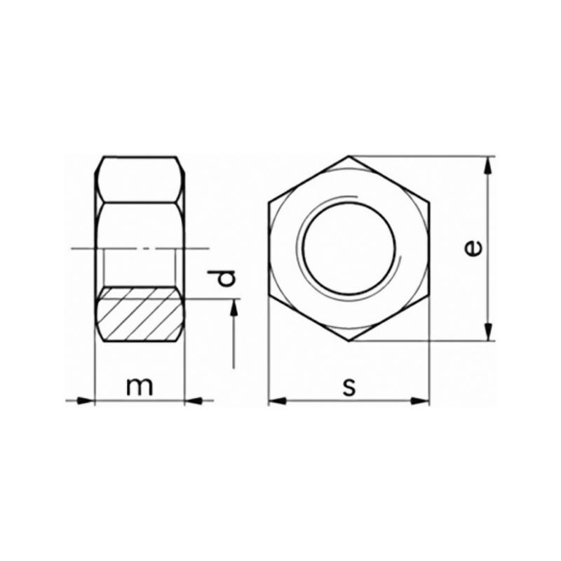 Hexagonal nut DIN 934, strength class 8 galv - 2