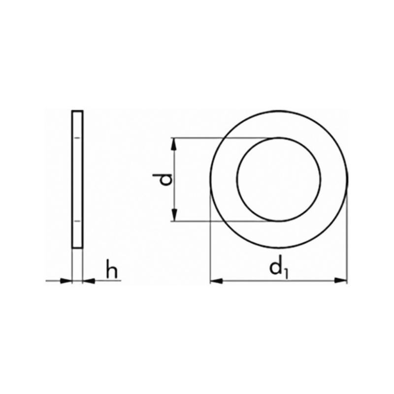 Washer, DIN 125 140 HV A2 - 2