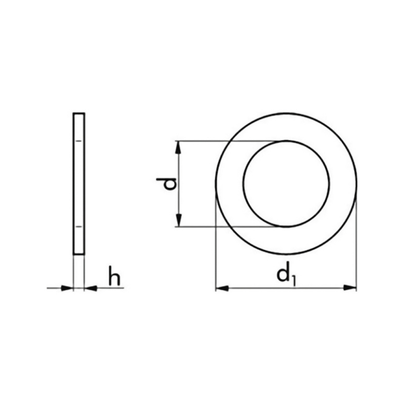 Penny washer, tolerance DIN 522-A, galvanised - 2