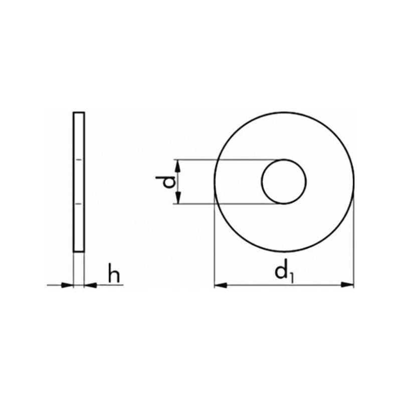 Unterlegscheiben 30 x 13 x 6 mm f/ür M12 U-Scheiben VPE 100 St/ück