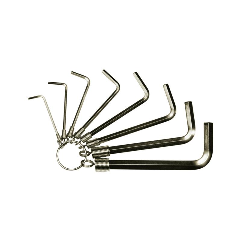 RECA Stiftschlüssel-Satz am Ring 8-teilig - Sechskant