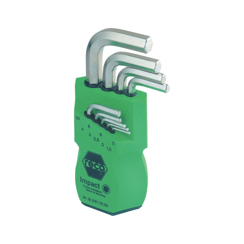 RECA IMPACT Stiftschlüssel-Satz 9-teilig - Sechskant - IMPACT Stiftschlüssel Satz 9-teilig, Sechskant