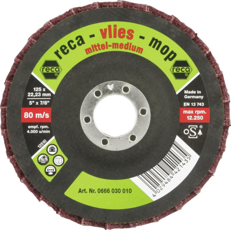Vlies-Mop Fächerschleifscheiben - Vlies-Mop Fächerschleifscheiben mittel 125 mm