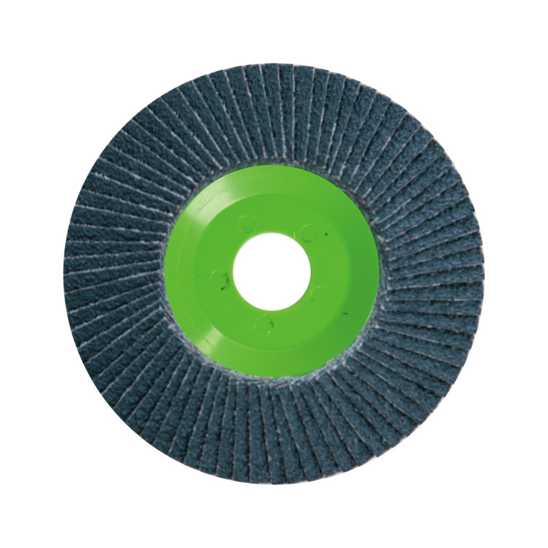 F/s Mop Fächerschleifscheiben gekröpft - F/s Mop Fächerschleifscheiben Korn 40, Zirkonkorund, gewölbt 115 mm