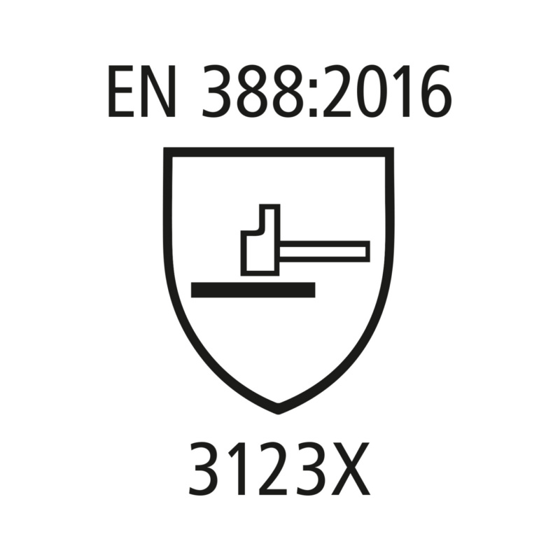 Arbeitshandschuhe Rindspaltleder - Arbeitshandschuhe EN 388 Kat.II aus Rindspaltleder, mit Stulpe, Level 3123X Gr. 10
