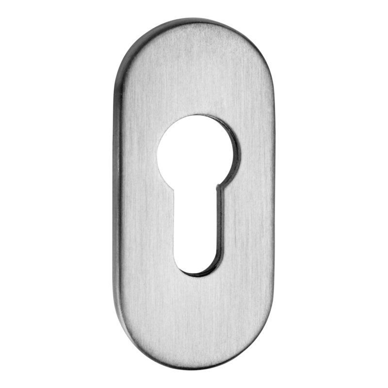 Clip rosette with profile cylinder perforation, oval - 1