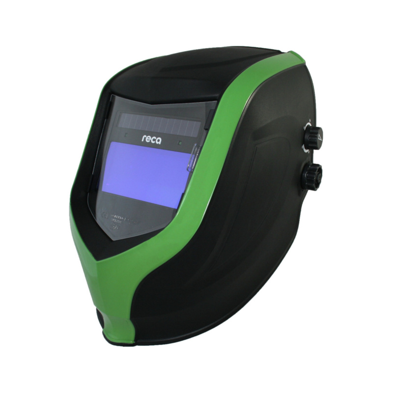Automatik-Schweißerhelm p550 - Schweißerhelm p550 Schwarz / Grün, Automatisch verdunkelnd, DIN 4 / 9-13