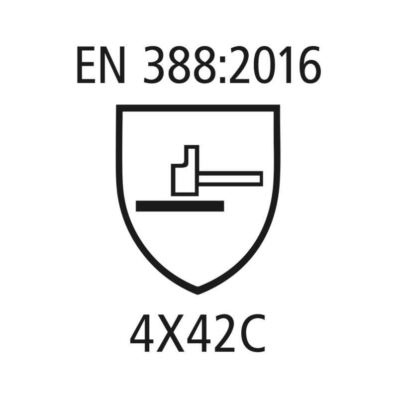 RECA Schnittschutzhandschuh PROTECT 301 - RECA Schnittschutzhandschuh PROTECT 301 EN388 - 4X42C - Kat.II HPPE Special Fiber, Nitrile Soft Foam black Sz. 9