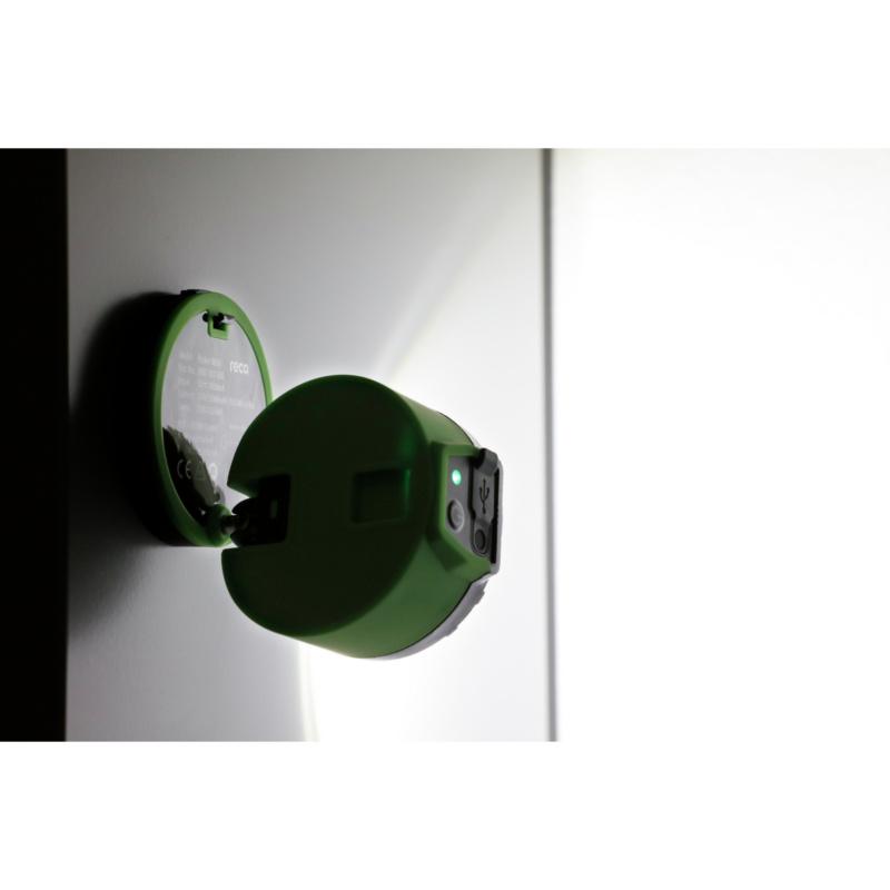 RECA Pocket R600  - Lampe de poche à batterie RECA Pocket R600, rotation à 360°, avec aimant et crochet, comprend un câble de charge micro USB