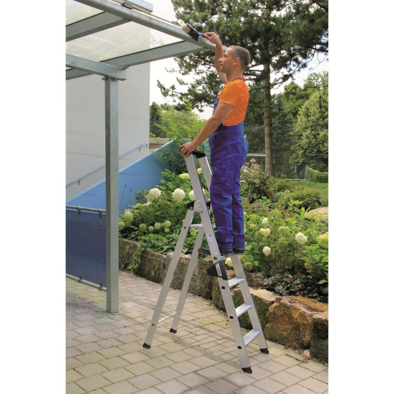 Aluminium-Stufen-Stehleiter einseitig - 6