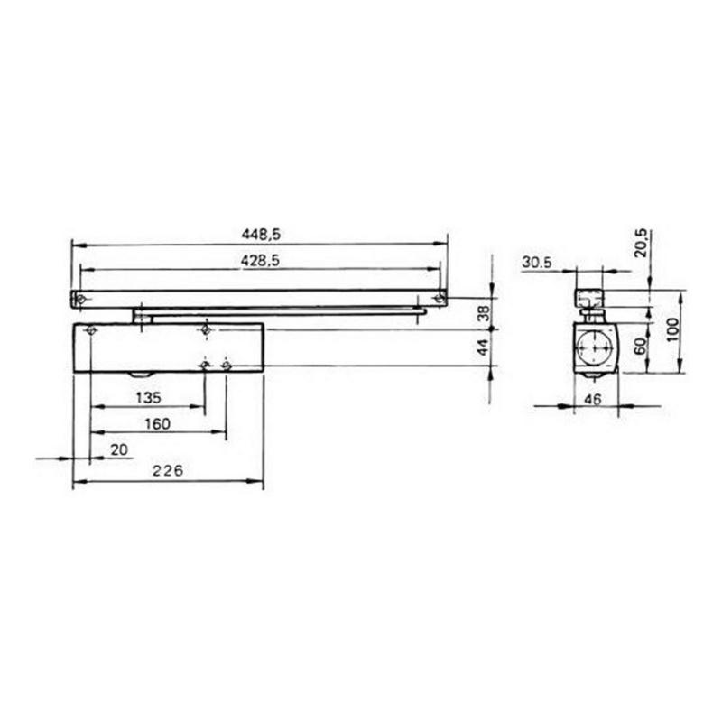 Geze Türschließer TS 3000 V - 2