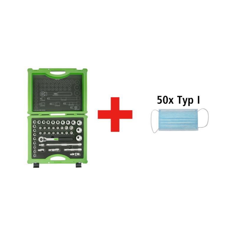 """Angebote Handwerkzeuge - RECA Steckschlüsselsatz 1/2"""" Package 43-teilig 1/2"""""""