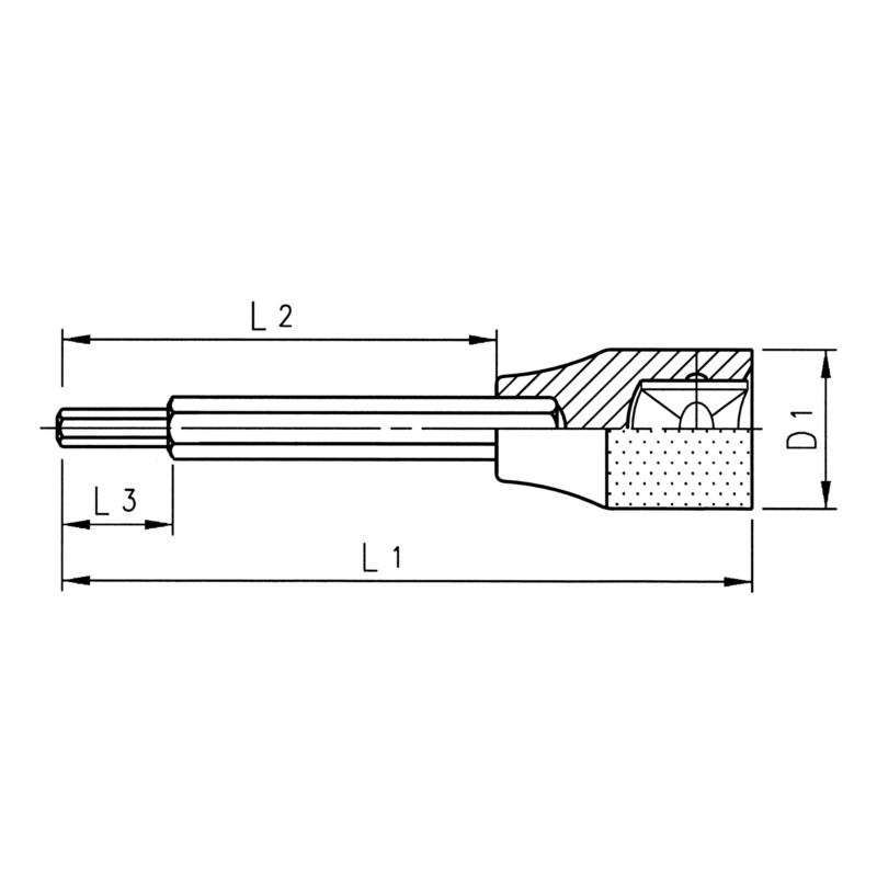 "RECA Steckschlüssel-Einsätze 1/2"" Innensechskant, lange Ausführung - 2"