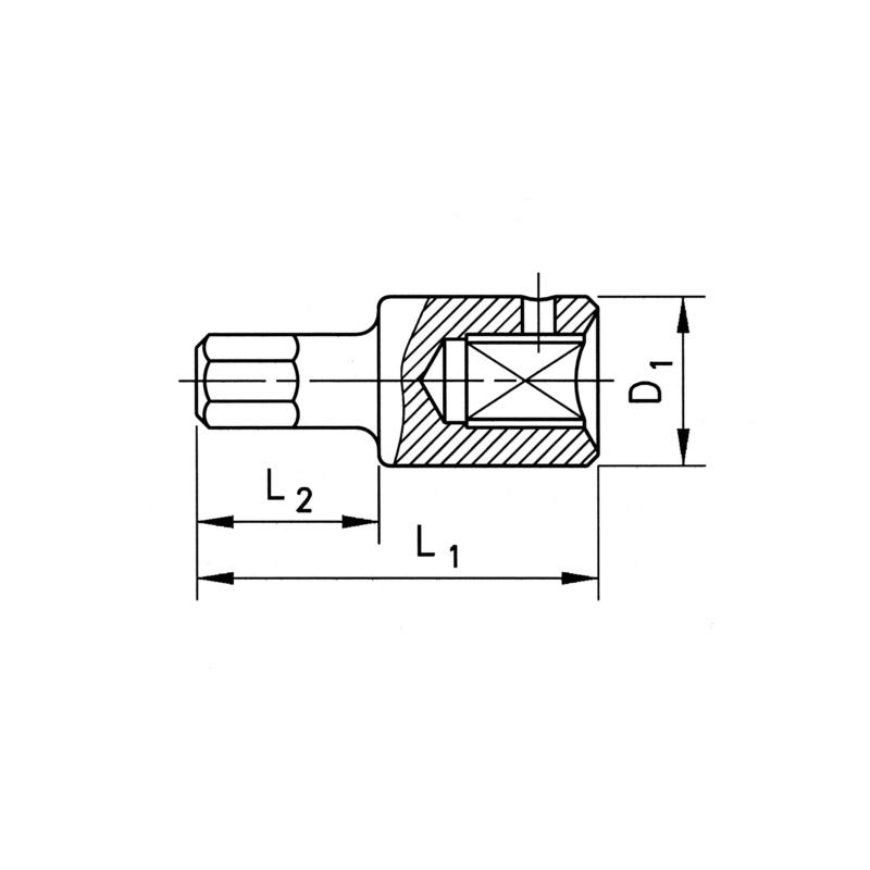 RECA 1/4'' screwdriver bits, hexagon socket - 2