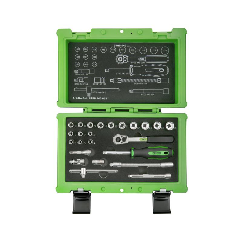 "RECA socket wrench set 1/4"", 24 pieces - 1"