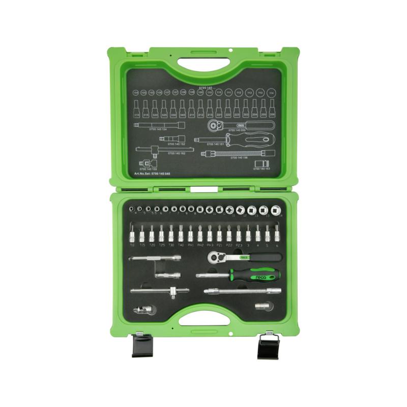 "RECA socket wrench set 1/4"", 40 pieces - 1"