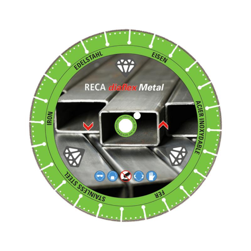 - Disque diamant diaflex Metal pour acier et inox 230/22.2