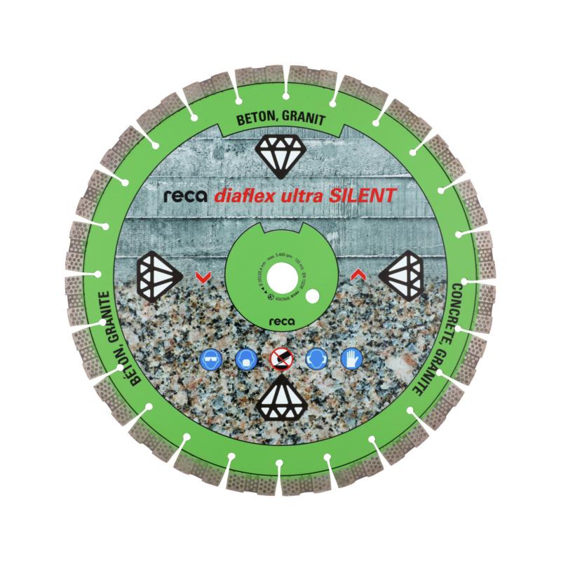 diaflex SILENTIO RS10B 230-350mm - Disque diamant RECA diaflex ultra SILENT alésage 25,4mm diamètre 350mm