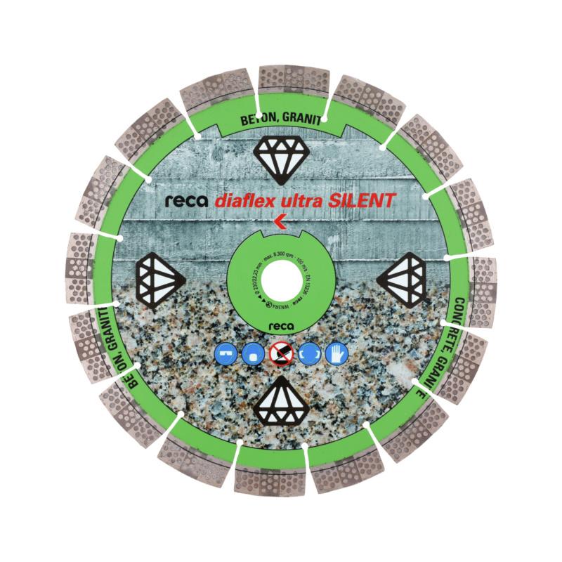 diaflex SILENTIO RS10B 230-350mm - Disque diamant RECA diaflex ultra SILENT alésage 22,2mm diamètre 230mm