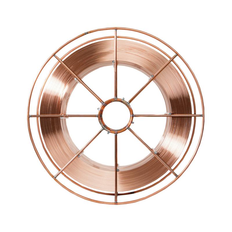 Schutzgasschweißdraht G3Si1 für Stahl - Schutzgasschweißdraht G3Si1 für Stahl, 15kg auf Korbspule BS300, lagegespult 0,8 mm²
