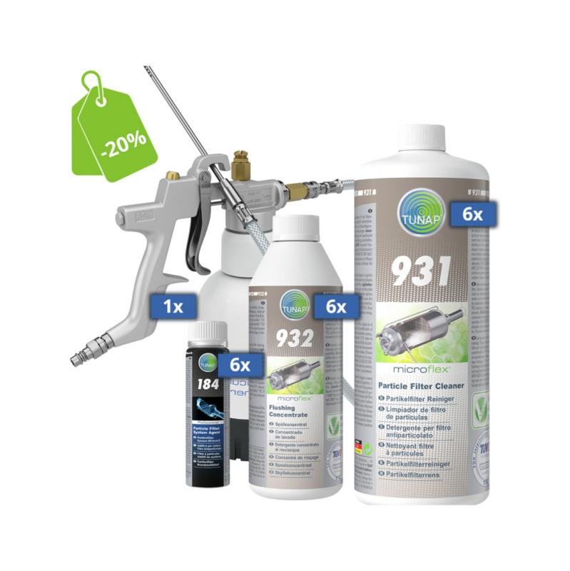 931S Set pulizia filtro antiparticolato + attrezzatura - microflex® 931S
