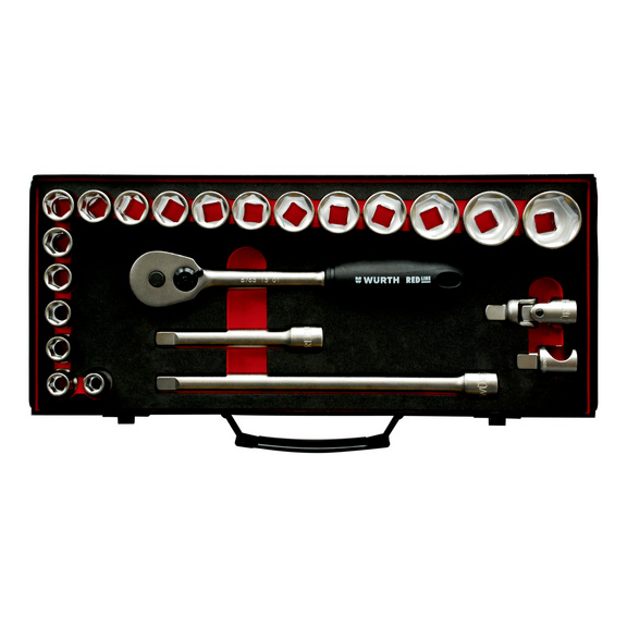 Buy 1/2 inch socket wrench assortment 23pcs Red Line online