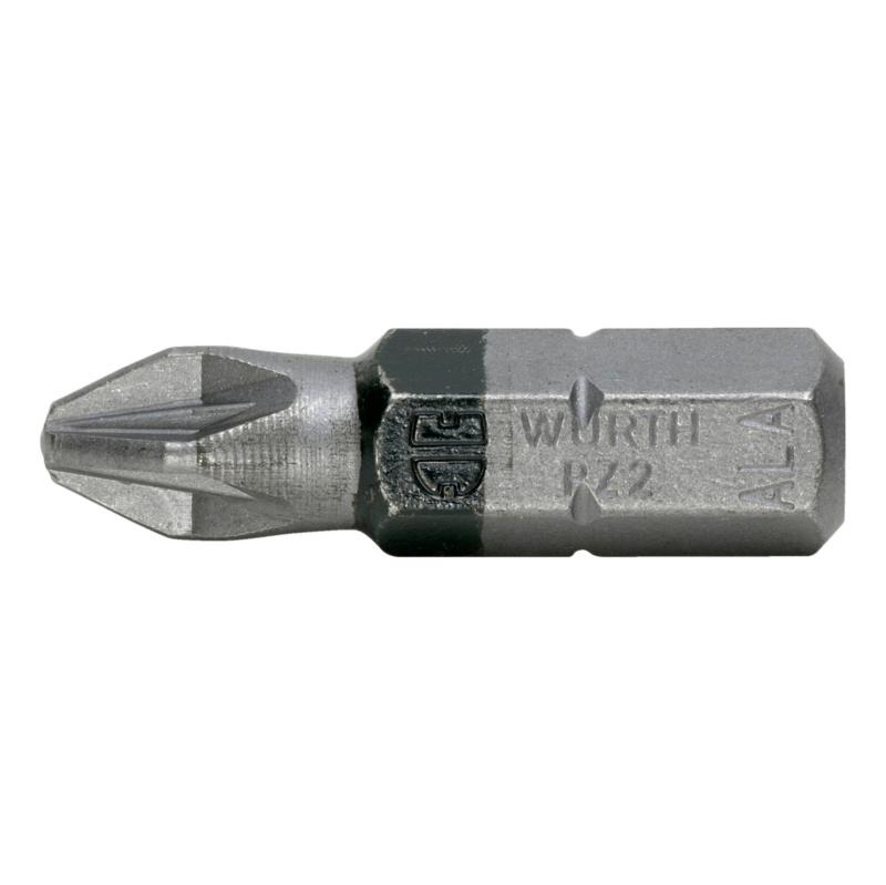 批头 PZ,C 6.3 (1/4) - 1/4英寸米字改锥头-PZ2-L25MM