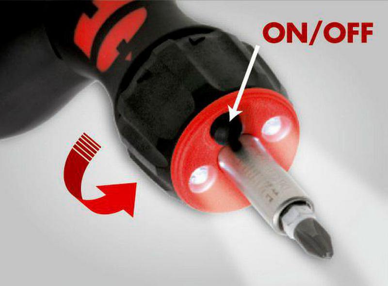 手枪式握把棘轮仓储式螺丝刀 - 枪式可换头棘轮磁性改锥