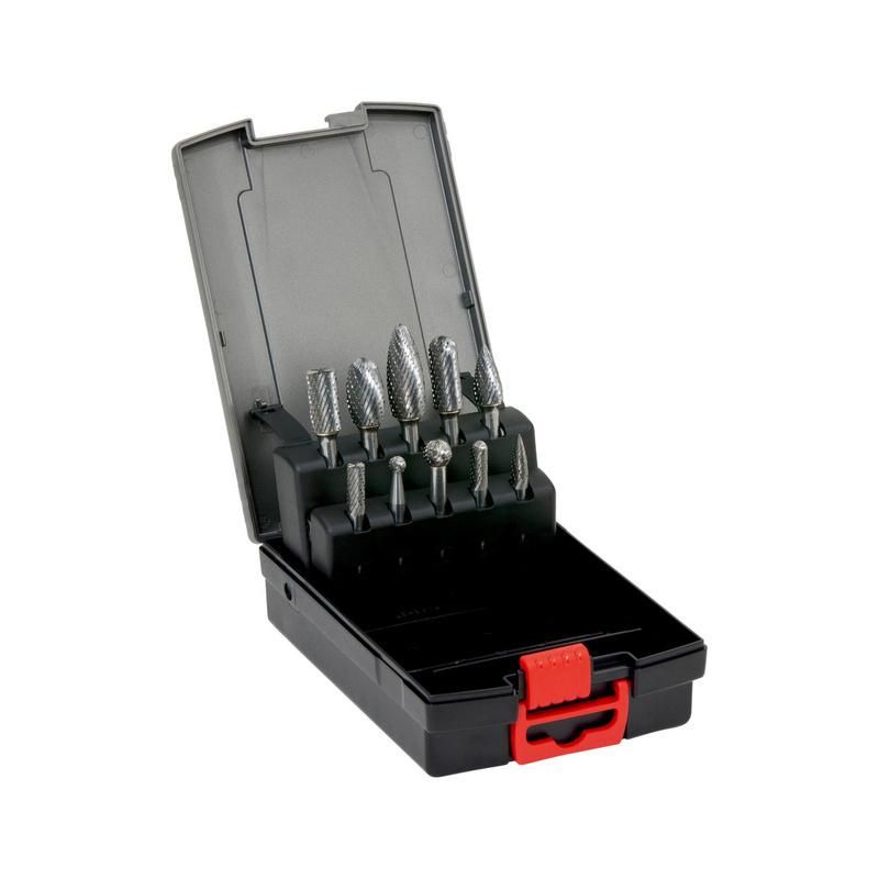 硬质合金铣磨头组套 MX 齿 - 硬质合金磨头组套-10PCS